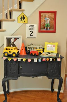 Photo 22 of 43 Planes Trains and Automobiles Birthday Kellens On the Go Birthday Catch My Party Transportation Birthday, Race Car Birthday, Cars Birthday Parties, Birthday Fun, Birthday Ideas, Construction Birthday Parties, Construction Party, A 17, Party Ideas