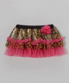 Flush with frilly printed tulle, this fanciful skirt comes with an elastic waistband for easy on and off.Shell: tulle / nylonLining: 100% cottonMachine wash; tumble dryImported