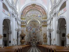 Stiftskirche Spital am Pyhrn, Innenraum 2 - Barock – Wikipedia Renaissance, Kirchen, Barcelona Cathedral, Places To Visit, Building, Travel, Ancient Architecture, Art History, Baroque