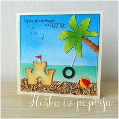 Hiška iz papirja: Otroško veselje na plaži