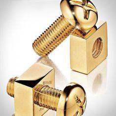 Fancy - Verdura 18 kt Gold Nuts & Bolts Cufflinks