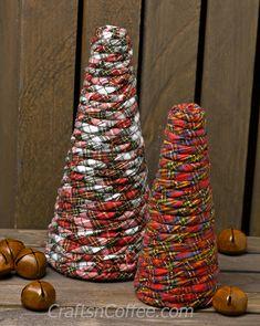 Super easy to DIY! Plaid Flannel Cones on CraftsnCoffee.com.