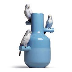 """Vase """"Parrot Parade"""" von Lladró  Porzellan, Handarbeit"""