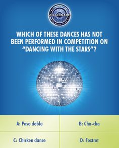 Thursday, does Nicole Cammorata have the moves for this #DancingwiththeStars question on an all-new #MillionaireTV? The correct #FinalAnswer just needs the proper fancy footwork to dance into big money. Don't miss Thursday's show with host Terry Crews. Go to www.millionairetv.com for local time and channel to watch!
