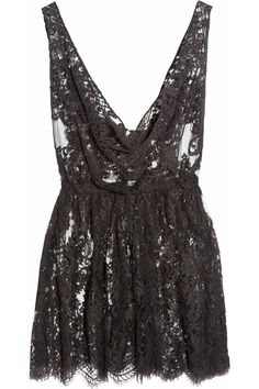 The Kate Moss Mini Chantilly lace chemise | Rosamosario