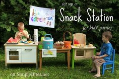 snack station for kids to graze while the grown-ups eat for real