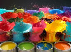 500px / Photo paint explosion by Karl Taylor