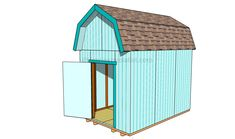 How to build a barn shed with a gambrel roof