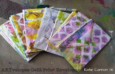 ARTvelopes Gelli Print Envelopes