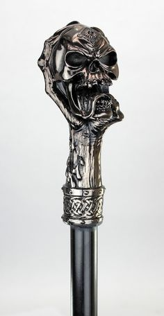 Elegant Contemporary Claw and Skull Gothic Walking Stick