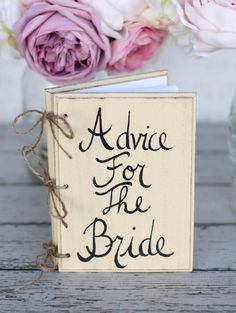 Bridal Shower Guest Advice B... from braggingbags on Wanelo