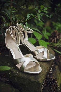 Metallic gold sandals. Photography by Mark Tattersall