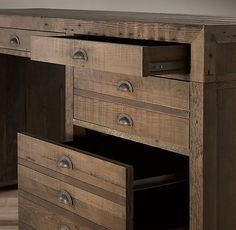 Printmaker's Desk. Flat-file storage, popular among printers, architects and artists, has been reconfigured into a desk destined for home-office efficiency.