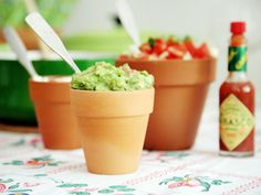 Summer Party: Use unused garden pots as condiment or sides holders. You can put your condiments in a plastic cup and then place them inside the pot.