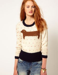 {Wool Sausage Dog Sweater}