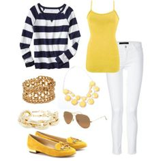 Nautical spring outfit idea