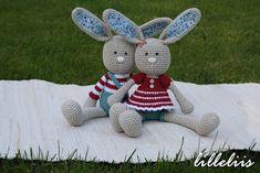 lilleliis.blogspot.com: Frilly-pants Bunny and Long-ear Rabbit - new patterns under construction