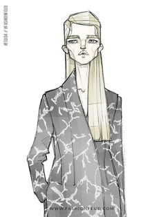 Fashion illustration // Milan Zejak - a Feud-Winning Designer at Fashion Feud