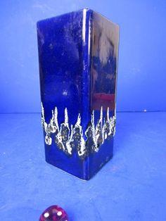 Fohr Keramik Fat Lava blau schwarz 341-15 Höhe 15,5 cm