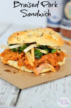 Braised Pork Sandwic