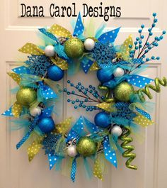 Caribbean Christmas - Door Wreath