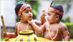 Allu Ayaan, s/o Allu Arjun is one of the most celebrated kid mand happening little one in the tinsel town. Here is the pic of Allu Ayaan dressed up like Krishna with flute in one hand and a pot full of butter. The Allu scion's picture was shar