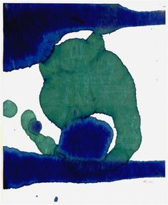 Robert Motherwell. Untitled, from the series Lyric Suite. (1965). Looks like a Frankenthaler (his wife). Ink on Japanese mulberry paper. MOMA.