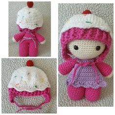 I had so much fun making this little Crochet Cupcake Hat from Repeat Crafter Me's Pattern . I did do several modifications though. I decid...