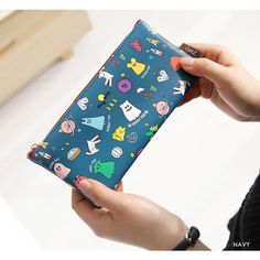 Gunmangzeung Ghost pop cute illustration zipper pouch S by Gunmangzeung. The Ghost pop pouch(S) is a very useful and well made small sized zipper wallet.