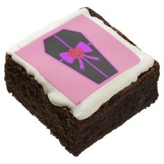 Red Rose Bow Coffin Gothic Sweet 16 Brownie