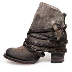 Freebird By Steven Women's Fb-Cairo Shoes ($295) ❤ liked on Polyvore featuring shoes, boots, ankle booties, ankle boots, grey, gray booties, suede booties, grey ankle boots and gray suede boots