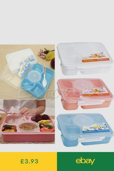 9eb1635b05d3 Microwave Bento Lunch Box + Spoon Utensils Picnic Food Container Storage Box  Hot