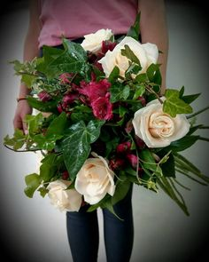 ❤Love to create . Flowers are always an inspiration ❤ Ivory Roses, Thessaloniki, Rose Bouquet, Fresh Flowers, Flower Art, Greece, Floral Wreath, Wreaths, Inspiration