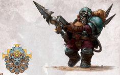 Fantasy Dwarf, Fantasy Rpg, Fantasy Artwork, Warhammer Fantasy, Warhammer Aos, Warhammer 40000, Dnd Dwarf, Kharadron Overlords, Stormcast Eternals