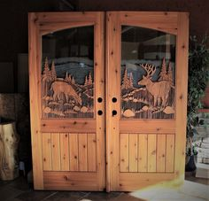 Hand carved to perfection, Great River Door Co. offers beautiful carved wood front doors for homes, lake houses & cabins.