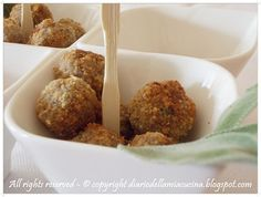 #meatballs with #sage #food #recipes #fingerfood