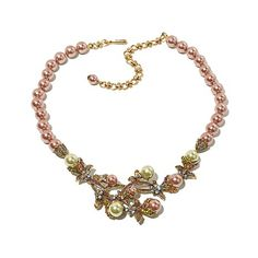 "Heidi Daus ""Vine and Divine"" Beaded Drop Necklace"