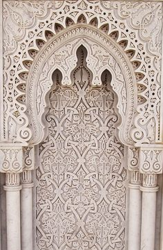 An arabesque at the Mausoleum of Mohammed V in Morocco photographed by Reena Azim Negi.