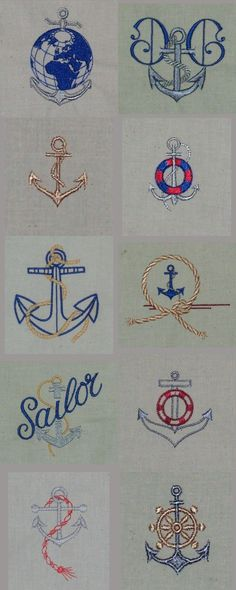Anchors Away Embroidery Machine Design Details