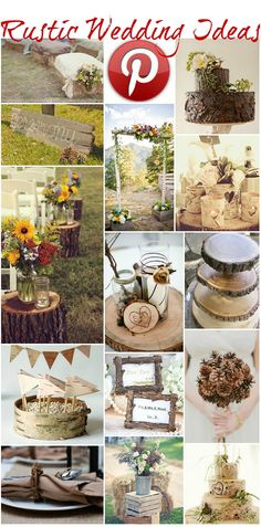 Boho Pins: Rustic Wedding Ideas - Today I am focusing on my favourite wedding trend; Rustic Weddings