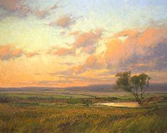 Twilight Pond by Kim Casebeer Oil ~ 24 x 30