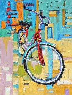 """""""Colorful Cruiser,"""" by Rene Wiley by Rene' Wiley Gallery Oil ~ 16 x 12"""