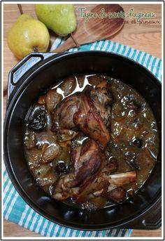 """Tajine de souris d'agneau aux pruneaux et poires - """"Mes brouillons de cuisine !"""""""