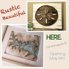 Well hello Rustic Beautiful, we  what you've been working on! Can't wait to adorn our walls with these and more of your signature art @ 103 Annapolis Street starting May 6th!
