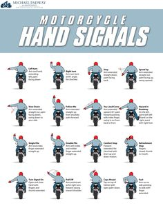 Motorcycle hand signals are important for communication when riding in groups…