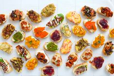 The key to any delicious party? Crostini—lots.