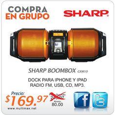 Descuento de $80 en la compra de Boombox GXM10 de Sharp a través de nuestra tienda en línea www.multimax.net (Oferta valida hasta el 20 de Octubre de 2013)