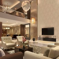 Purchasing Home Living Room Design Fresh in Classic Designs for Brilliant JSDLANU - homehomee Dream House Interior, Luxury Homes Dream Houses, Dream Home Design, Modern House Design, Luxury Interior, Home Interior Design, Interior Ideas, Living Room Designs, Living Room Decor