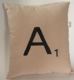 "Scrabble Letter ""A"" Pillow on Etsy, $12.00"