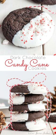 Chocolate Candy Cane Cookies Recipe – Girls Pop-Dishes- The classic com. Dark Chocolate Candy Cane Cookies Recipe – Girls Pop-Dishes- The classic com.,Dark Chocolate Candy Cane Cookies Recipe – Girls Pop-Dishes- The classic com. Mini Desserts, Cookie Desserts, Holiday Desserts, Holiday Baking, Holiday Treats, Holiday Recipes, Dinner Recipes, Christmas Dessert Recipes, Healthy Christmas Treats